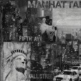 Manhattan in Black and White I Poster by John Clarke