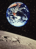 Planet Earth and Moonscape Prints by Len Delessio