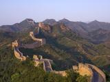 La Grande muraglia, vicino a Jing Hang Ling, sito patrimonio dell'umanità secondo l'Unesco, Beijing, Cina Stampe di Adam Tall