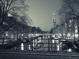 Prinsengracht and Westerkerk, Amsterdam, Nederland Kunst av Jon Arnold