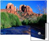 Cathedral Rock Above Oak Creek at Red River Crossing, Sedona, Arizona Plakater av Tomlinson, David