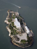 Alcatraz Island and Boat, San Francisco Bay, California Photographic Print by Marli Miller