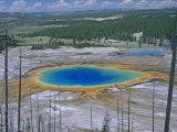 Grand Prismatic Spring, Yellowstone National Park, Wyoming, USA Fotografie-Druck von Gustav W. Verderber