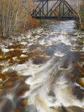 Trestle over the Saco River. White Mountains, New Hampshire Fotografie-Druck von Gustav W. Verderber