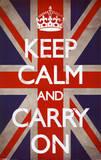 平静そして続行/Keep Calm and Carry On アートポスター