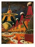 Sci Fi - Future Atomic City, 1942 Giclee Print by Frank R. Paul