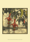 Mini Fuchsia and Silhouette III Posters por Jennifer Goldberger