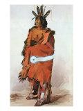 Pachtuwa-Chta, an Arikara Warrior, 1833 Stampa giclée di Karl Bodmer