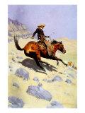 The Cowboy, 1902 Giclee-trykk av Frederic Sackrider Remington