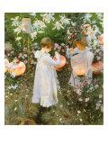 Chinese Lanterns, Girls, 1885 Giclée-tryk af John Singer Sargent