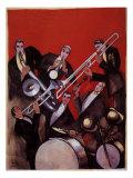 Kings of Jazz Ensemble, 1925 Giclee-trykk av Paul Colin