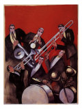 Kings of Jazz Ensemble, 1925 Giclee Print by Paul Colin