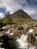Waterfall on River Coupall, Glen Etive, Near Glencoe, Highland Region, Scotland, UK Photographic Print by Patrick Dieudonne