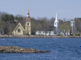 Three Churches, Mahone Bay, Nova Scotia, Canada, North America Reproduction photographique par Ethel Davies