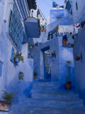 Chefchaouen, Near the Rif Mountains, Morocco, North Africa, Africa Fotografisk tryk af Ethel Davies