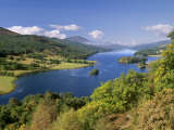 Queen's View, Famous Viewpoint over Loch Tummel, Near Pitlochry, Perth and Kinross, Scotland, UK Stretched Canvas Print by Patrick Dieudonne