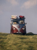 VW Camper Van with Surf Boards on Roof Photographic Print by Dominic Harcourt-webster