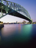 Sydney Harbour Bridge, Circular Quay Pier, Sydney, New South Wales, Australia, Pacific Photographic Print by Alain Evrard