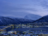 Tromso and its Bridge to the Mainland at Dusk, Arctic Norway, Scandinavia, Europe Photographic Print by Dominic Harcourt-webster