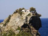 Church of Agios Ioannis, Used in the Film Mamma Mia, Skopelos, Sporades Islands, Greece Fotografisk tryk af Robert Harding