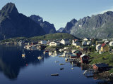 Hamroy Fishing Village During Summer, Lofoten Islands, Arctic, Norway, Scandinavia, Europe Photographic Print by Dominic Harcourt-webster
