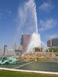 Buckingham Fountain in Grant Park, Chicago, Illinois, United States of America, North America Fotografisk trykk av Amanda Hall