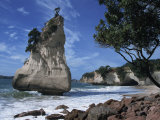 Te Horo Rock, Cathedral Cove, Coromandel Peninsula, North Island, New Zealand, Pacific Photographic Print by Dominic Harcourt-webster