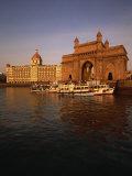 Gateway to India and Taj Hotel, Mumbai, India Photographic Print by Alain Evrard