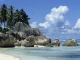 Grand Anse, La Digue, Seychelles, Indian Ocean, Africa Fotografisk tryk af Robert Harding