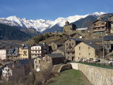 Village of Anyos with the Arcalis Mountains Beyond in Andorra, Europe Photographic Print by Harding Robert