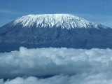 Mount Kilimanjaro, UNESCO World Heritage Site, Seen from Kenya, East Africa, Africa Fotografisk trykk av Harding Robert