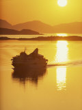 Ferry Silhouetted by the Midnight Sun, Harstad, Norway, Scandinavia, Europe Photographic Print by Dominic Harcourt-webster