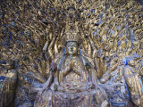 Statue of Avalokitesvara with One Thousand Arms, Dazu Buddhist Rock Sculptures, China Fotografie-Druck von Kober Christian