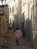 Daily Life in the Coastal Town of Massawa, Eritrea, Africa Fotografisk tryk af Mcconnell Andrew