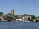 River Thames at Henley on Thames, Oxfordshire, England, United Kingdom, Europe Fotografisk trykk av Harding Robert