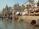Morning Religious Festival, River Ganges, Varanasi, Uttar Pradesh State, India Photographic Print by Gavin Hellier