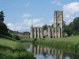 Fountains Abbey, UNESCO World Heritage Site, Yorkshire, England, United Kingdom, Europe Fotografisk trykk av Harding Robert