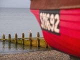 Fishing Boat, Worthing Beach, West Sussex, England, United Kingdom, Europe Fotografisk trykk av Miller John