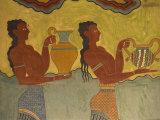 Fresco Detail, Knossos, Crete, Greece, Europe Fotografisk trykk av Harding Robert