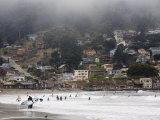Surfers at Linda Mar Beach, Pacifica, California, United States of America, North America Fotografisk trykk av Levy Yadid