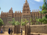 Mosque in Old Town, Mopti, Mali, Africa Fotografisk trykk av Pate Jenny