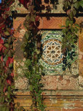 Tiled Panel on Decorative Column in Moorish Gothic Style, Quinta, Monserrate, Sintra, Portugal Photographic Print by Westwater Nedra