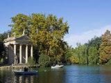 Aesculapius Temple, Lake in Villa Giulia Garden, Rome, Lazio, Italy, Europe Photographic Print by Tondini Nico