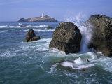 Godrevy Point Lighthouse, Cornwall, England, United Kingdom, Europe Reproduction photographique par Rainford Roy