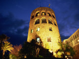 Harbourside Watchtower Illuminated at Night, Puerto Banus, Marbella, Andalucia, Spain, Europe Photographic Print by Tomlinson Ruth