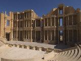 Roman Theatre, Sabratha Roman Site, UNESCO World Heritage Site, Tripolitania, Libya Photographic Print by Pitamitz Sergio