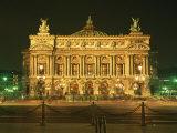 Facade of L'Opera De Paris, Illuminated at Night, Paris, France, Europe Reproduction photographique par Rainford Roy