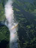 Victoria Falls, UNESCO World Heritage Site, Zimbabwe, Africa Fotografisk trykk av Pate Jenny
