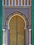 Ornate Tiled Doorway at the Royal Palace, Fez, Morocco, North Africa, Africa Fotografie-Druck von Edwardes Guy
