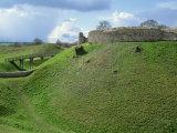 Castle at Castle Acre, Norfolk, England, United Kingdom, Europe Fotografisk trykk av Pate Jenny